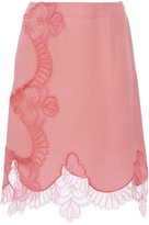 Alexis Mabille Pink Lace Wrap Mini Skirt