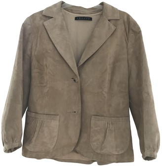 Theory Beige Suede Jackets