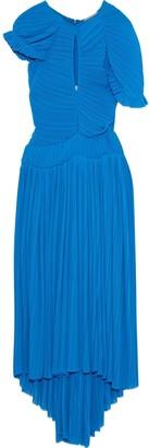 Preen by Thornton Bregazzi Milly Cutout Plisse-chiffon Midi Dress