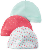 Carter's Baby Girls' 3-Pack Hello Cutie Beanie Caps