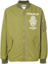 Moschino Hamsa print bomber jacket