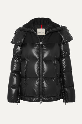 Moncler Hooded Quilted Shell Down Jacket - Black