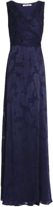 Diane von Furstenberg Wrap-effect Fil Coupe Chiffon Wrap Gown