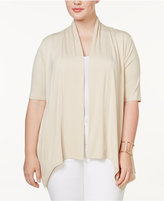 NY Collection Plus Size Elbow-Sleeve Cardigan