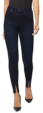 Joe's Jeans x WeWoreWhat The Danielle High-Rise Skinny Ankle-Zip Jeans in Dark Indigo