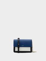 DKNY Saffiano Colorblock Mini Flap Crossbody
