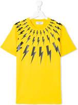 Neil Barrett Kids Teen lightning bolt T-shirt