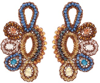 Hand-Made Crochet Side Chandelier Earrings