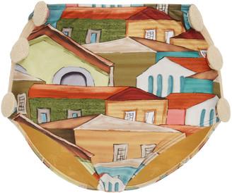 Agua de Coco Button-Detailed Printed High-Rise Bikini Bottom