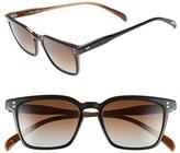 Salt Men's 'Lodin' 52Mm Polarized Sunglasses - Black Coffee/ Brown