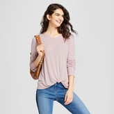 Mossimo Women's Knot Front Long Sleeve T-shirt