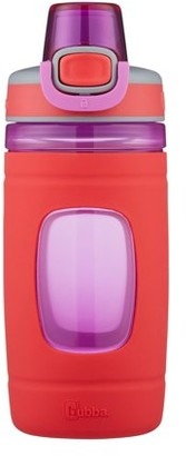 Bubba Kids Flo BPA-free Water Bottle with Silicone Sleeve Wide Mouth, 16 Oz, Azure