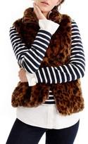 J.Crew Women's Faux Leopard Fur Vest