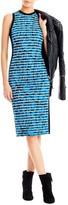 Nicole Miller Knit Transparent Stripe Dress