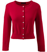 Classic Women's Tall Supima 3/4 Sleeve Dress Cardigan Sweater-Cherry Jam
