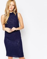 Minimum Gittah Textured Midi Dress In Navy
