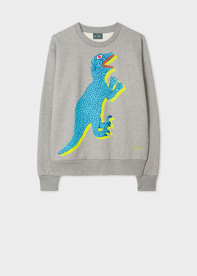 Women's Grey Large 'Dino' Print Sweatshirt