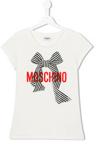 Moschino Kids ribbon print T-shirt
