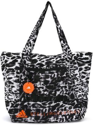 adidas by Stella McCartney Leopard Print Logo Tote Bag
