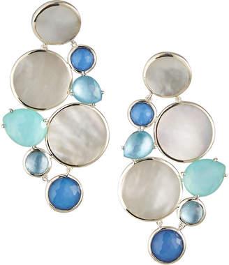 Ippolita Wonderland Multi-Stone Chandelier Earrings in Brazilian Blue