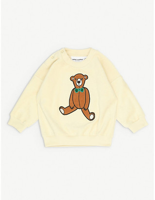 Mini Rodini Teddy Bear patch-embroidered organic cotton sweatshirt 1-18 months