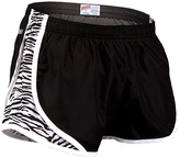 Soffe Black & White Zebra Mesh-Panel Shorts
