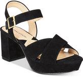 Adrienne Vittadini Powel Block-Heel Platform Sandals Women's Shoes