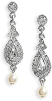 Ben-Amun Women's Glass Pearl & Swarovski Crystal Drop Earrings