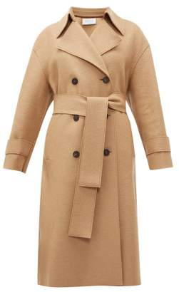 Harris Wharf London Double Breasted Wool Trench Coat - Womens - Camel