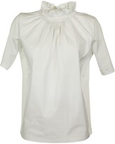 Fabiana Filippi Cotton T-shirt With A Gathered Collar