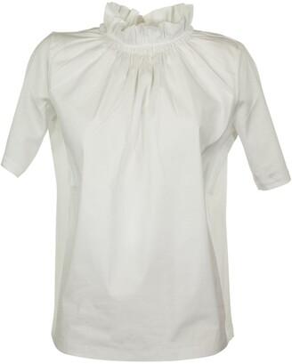 Fabiana Filippi Cotton T-shirt With A Gathered Collar