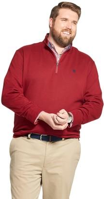 Izod Big & Tall Advantage Performance Fleece Quarter-Zip Pullover
