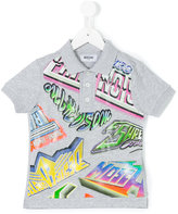 Moschino Kids - printed short sleeve polo shirt - kids - Cotton - 4 yrs