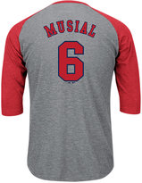 Majestic Men's Stan Musial St. Louis Cardinals Coop Player Entry Raglan T-Shirt