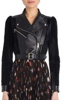 Alexander McQueen Leather & Shearling Moto Jacket