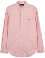 Polo Ralph Lauren Pink Slim Stretch Cotton Oxford Shirt