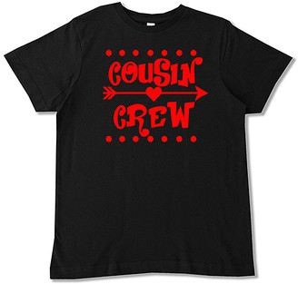 Micro Me Boys' Tee Shirts Black - Black & Red 'Cousin Crew' Hearts Tee - Toddler & Boys