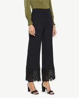 Ann Taylor Cropped Lace Hem Pants