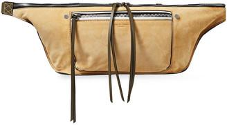 Rag & Bone Large Elliot Suede And Leather Belt Bag