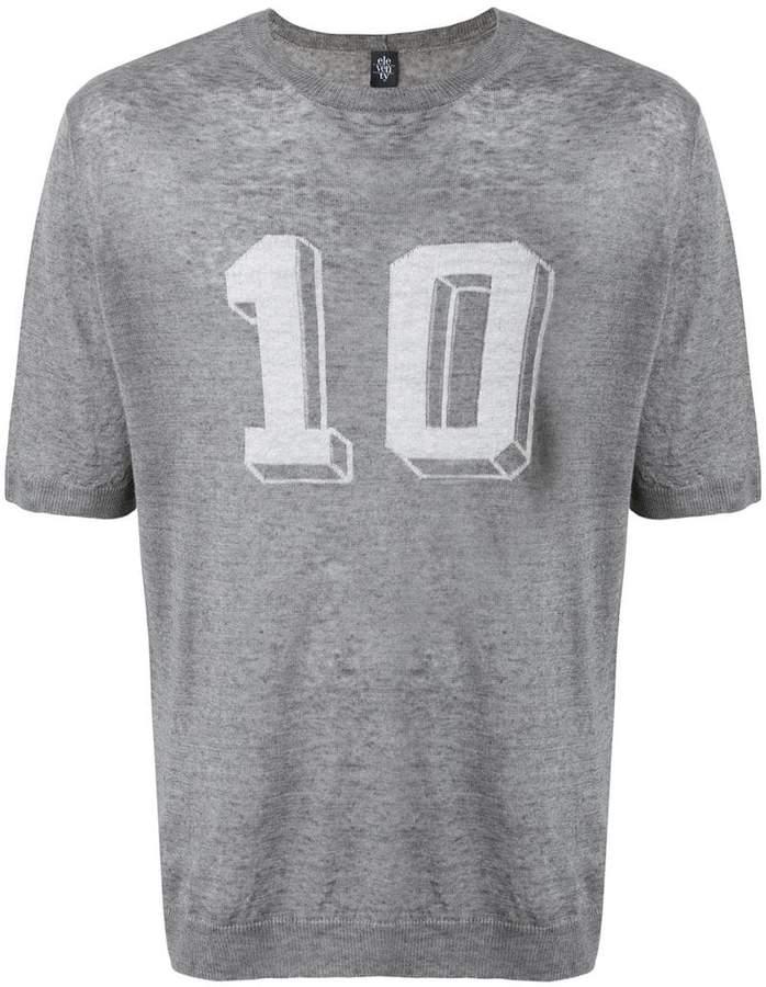Eleventy 10 print T-shirt