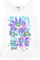 DKNY Bright White Floral 'Summer' Tank - Toddler & Girls
