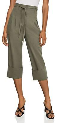 BCBGMAXAZRIA Cuffed Tie-Front Cropped Pants