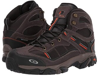 Hi-Tec Explorer Mid I WP Steel Toe (Chocolate/Burnt Orange) Men's Work Boots