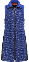 Missoni Padded Crochet-Knit And Shell Vest