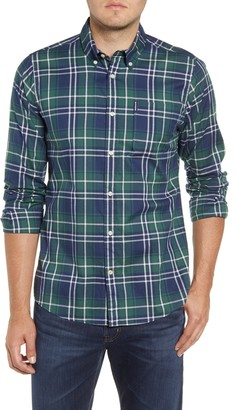 Barbour Highland Check 10 Tailored Fit Button-Down Cotton Shirt