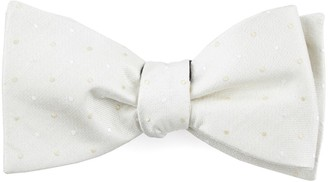 Tie Bar Suited Polka Dots Ivory Bow Tie