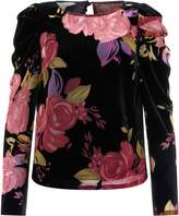 Monsoon Joanna Velvet Print Top