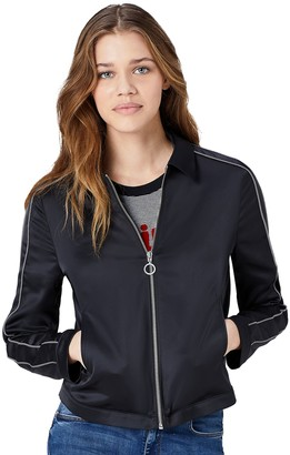 Find. Amazon Brand Women's Harrington Satin Jacket