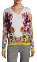 Etro Geo Floral Sweater