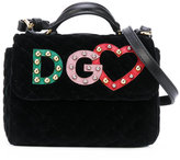 Dolce & Gabbana logo patch bag - kids - Calf Leather/Suede - One Size